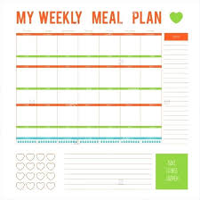 Weekly Meal Plan Sheet Weekly Meal Planning Template Eating Plan Free Diet