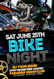 motorcycle club flyers sports party club flyers