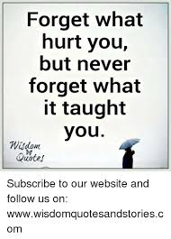 Quotes Website Impressive Forget What Hurt You But Never Forget What It Taught You Wsdom