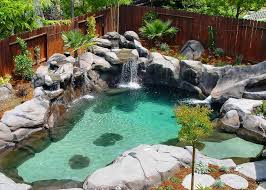Swimming Pools Built With Natural Look small pool pumps small pool