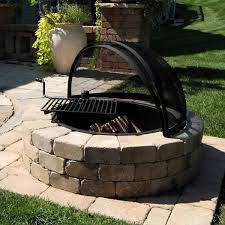 rockwood fire ring with cooking grate material to build fire pit and grill
