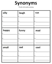 Free Printable Synonym Worksheets - Checks Worksheet