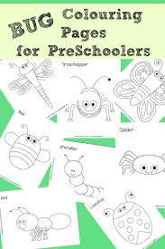 8 Free Bug Colouring Pages Perfect For Preschoolers Red Ted Art