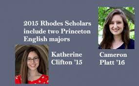 2015 Rhodes Scholars include two Princeton English majors | Department of  English