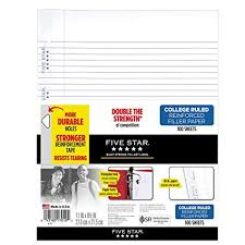 Lined Papers Fascinating Amazon Five Star Loose Leaf Paper 48 Hole Punched Reinforced