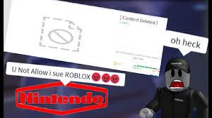 NINTENDO TAKING DOWN ROBLOX GAMES - YouTube
