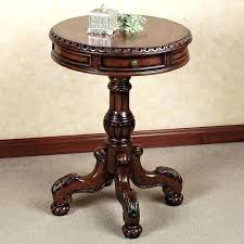 tall round accent table wonderful round pedestal accent table small end pertaining to pare natural wooden tall round accent table
