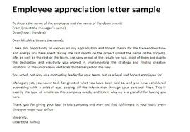 sample letter employee employee appreciation letter sample just letter templates