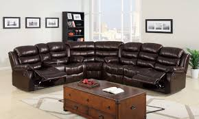 Leather Chairs Living Room Furniture Fabulous Leather Sectional Sofa With Recliner For