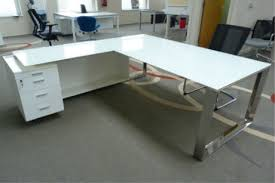contemporary glass office desk. Wonderful Innovative White Glass Office Desk Furniture Modern With Regard To Contemporary