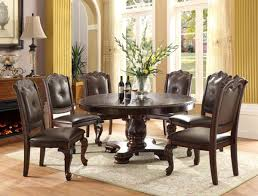 60 Round Dining Table Set Crown Mark 2150t 60 Kiera 7 Pieces Traditional Round Dining Table Set
