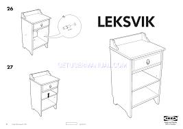 Ikea Instruction Manuals Ikea Tables Leksvik Bedside Table 16 1 8x13 Assembly Instruction