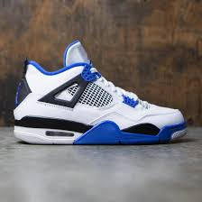 jordan 4 retro. air jordan 4 retro motorsports men (white / game royal-black)