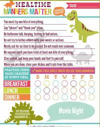Mealtime Manners Reward Chart Free Printable Ultimate Scouts