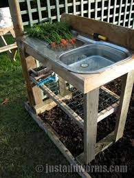 garden sinks. DIY: Repurposing An Old Sink For The Garden Sinks U