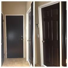 painted all my white doors dark brown love it