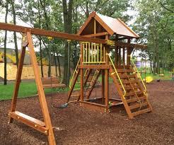 diy swing set playhouse build your