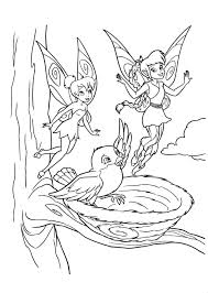Bird and Friends Tinkerbell Fairies Coloring Pages 30773 ...