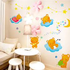 get quotations cute animal cartoon children s room wall stickers bedroom wall decoration klimts samelitter moon baby clothes ornaments on baby room wall decor stickers with china baby bedroom wall china baby bedroom wall shopping guide at