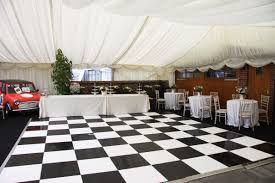 Black And White Flooring Black And White Dance Floor Archers Marquees