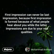 First Impression Quotes Stunning First Impression Can Never Be Hindi Quotes Hindi Shayari