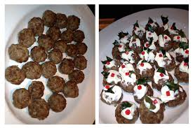 How To Create Christmas Pudding Meatballs! | MOREGEOUS... Making ...