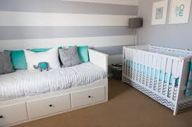 emerson s not so girly aqua and gray nursery project nursery