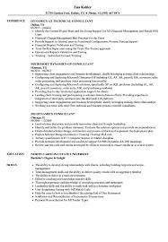 Dynamics Consultant Resume Samples Velvet Jobs