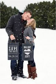 25 Winter Save The Date Ideas 25 Dipped In Lace