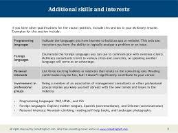 CV Hobbies and Interests Sample florais de bach info