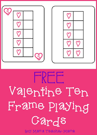 Teacher Mama: FREE Valentine Ten Frame Playing Cards {After School ...