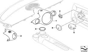 Trim ring for front cupholder in chrome eye catching detail for the interior of your mini represented by part number 3 in the diagram