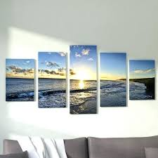 5 piece canvas art set search results for wall sets beach