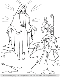 Small Picture The 4th Glorious Mystery Coloring Page The Assumption Mary is