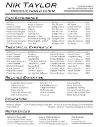 film amp theatre resume crew example media entertainment sample - theatre  resume format