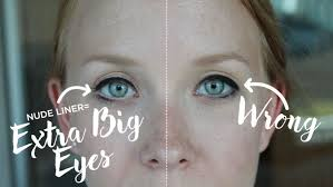 and if you want your eyes to look even wider apply a little liner a vine beauty trick everyone should try check out the difference how easy