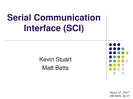 Sci Ppt Ppt Serial Communication Interface Sci Powerpoint