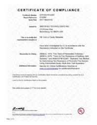 Ul Letters Ul Certificate Of Compliance