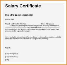 Certificate Of Employment With Compensation Certificate Of