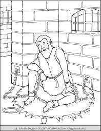 Small Picture Saint John The Baptist Imprisoned Coloring Page Catholic Saints