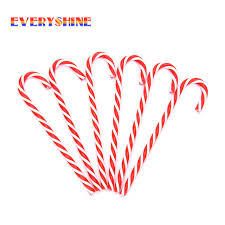 Plastic Candy Cane Decorations 100 Happy New Year 100pcslot Plastic Candy Cane Ornaments 35