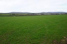 grass field. Grass Field Above Scurlage