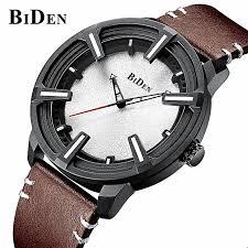 biden fashion luxury men s leather wristband watch classic simple unique design of the dial quartz clock