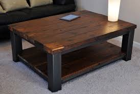 ... Coffee Table, Rustic Wood Coffee Table With Wheels Rustic Wood Coffee  Tables Square Table From ...
