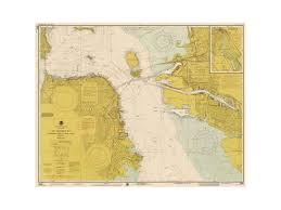 Bentley Global Arts Pdx450545small Nautical Chart San Francisco Bay Ca 1975 Sepia Tinted Poster Print By Noaa Historical Map Chart 11 X 14