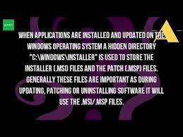 what is windows installer what is the windows installer folder youtube