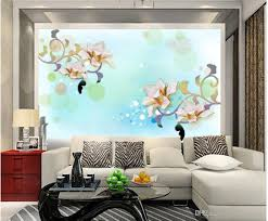 Wall Mural For Living Room Magnolia Flower High End Warm Dream Living Room Tv Wall Mural 3d
