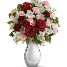 teleflora s crazy for you bouquet with red roses