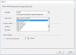 Date Change Date Format Project Plan 365