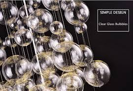 modern glass bubble chandelier pendant lamp ceiling light fixtures 55cm